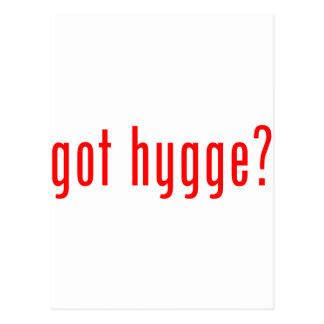 got hygge? postcard
