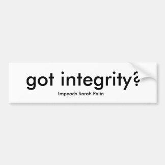 got integrity? bumper sticker