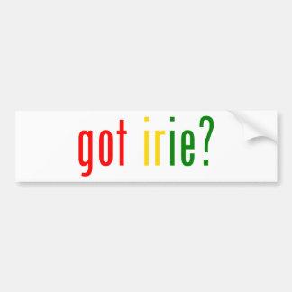 got irie? bumper stickers