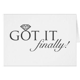 Got it - Finally Diamond Ring Card