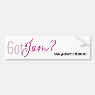 Got Jam? Bumper Sticker