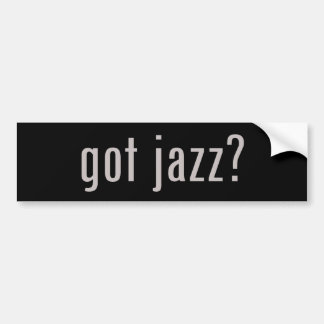 got jazz? bumper sticker