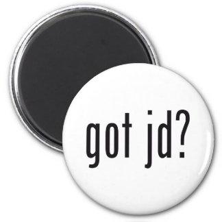 got jd? 6 cm round magnet