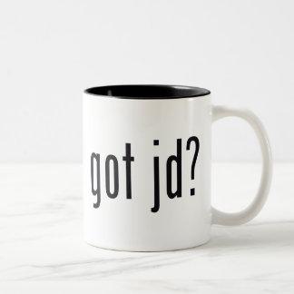 got jd? Two-Tone coffee mug
