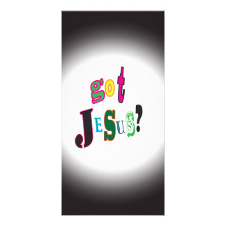 Got Jesus Black Oval Abstract Card