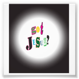 Got Jesus Black Oval Abstract Photograph