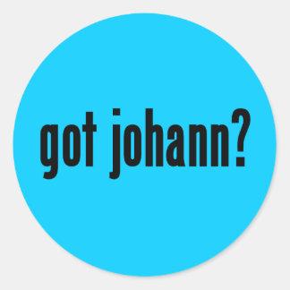 got johann? classic round sticker