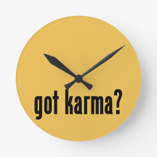 got karma? clock