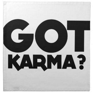 Got Karma, text words Napkin
