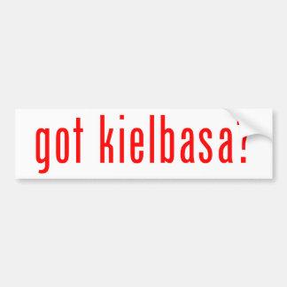 got kielbasa? car bumper sticker