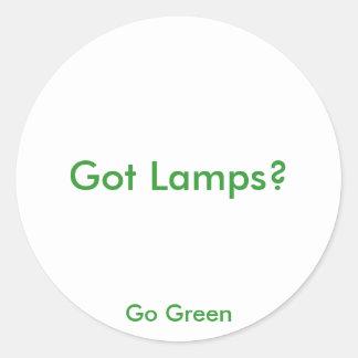Got Lamps?, Go Green Round Sticker