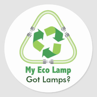 Got Lamps?  Recycle Round Sticker