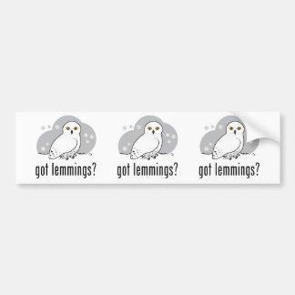 got lemmings? bumper sticker
