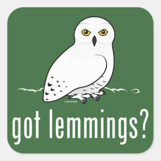 got lemmings? square sticker