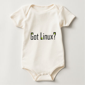 Got Linux? - Black text Baby Bodysuit