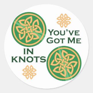 Got Me In Knots Round Sticker