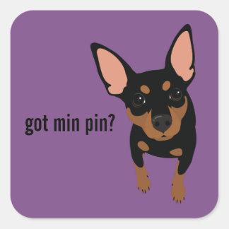 Got Min Pin? Miniature Pinscher (Black) Sticker
