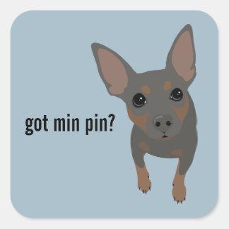 Got Min Pin? Miniature Pinscher (Blue) Sticker
