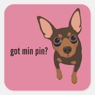 Got Min Pin Miniature Pinscher (Chocolate) Sticker