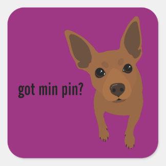 Got Min Pin? Miniature Pinscher (Red) Sticker