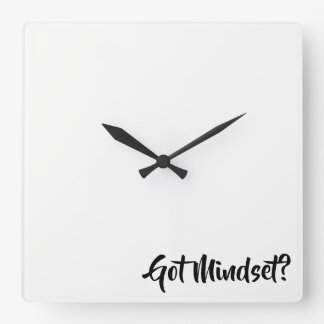 Got Mindset...coaching Square Wall Clock