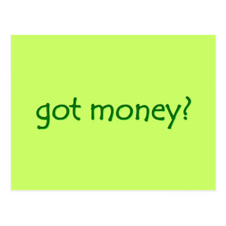 got money? Postcard