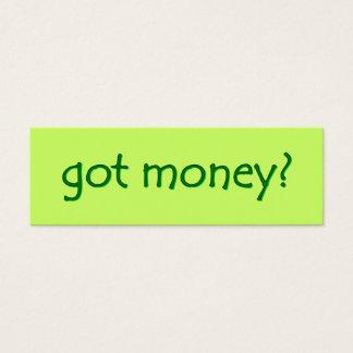 got money? Skinny Gallery Card