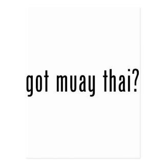 got muay thai? postcard