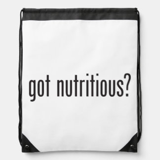 got nutritious drawstring bags
