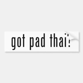 got pad thai? bumper stickers