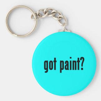 got paint? basic round button key ring