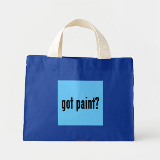 got paint? mini tote bag