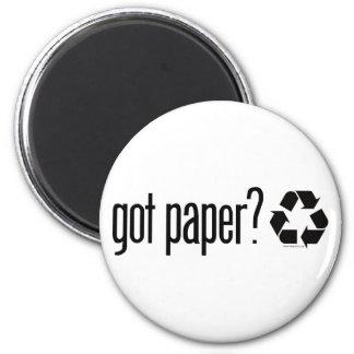 got paper Recycling Sign Fridge Magnet