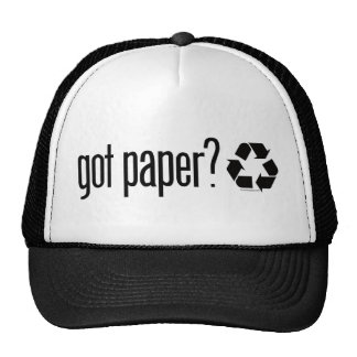got paper? Recycling Sign Hats