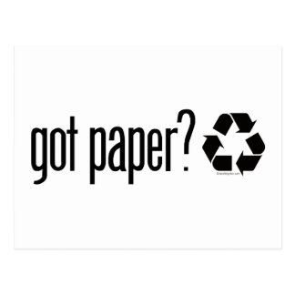 got paper Recycling Sign Post Card
