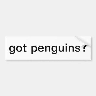 got penguins? bumper sticker