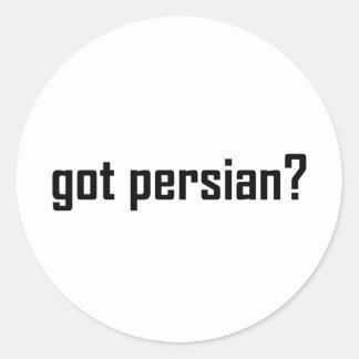 got persian? classic round sticker
