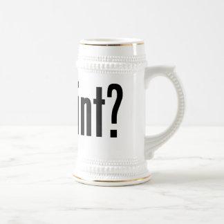 got pint? beer stein