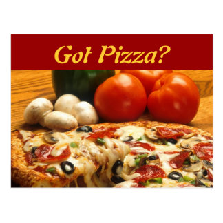 Got Pizza? postcard
