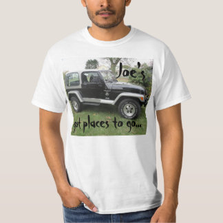 """Got places to go"" Black and Grey Jeep t-shirt"