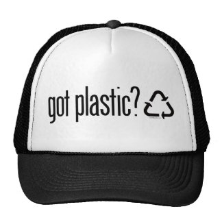 got plastic? Recycling Sign Mesh Hat