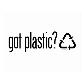 got plastic Recycling Sign Postcards