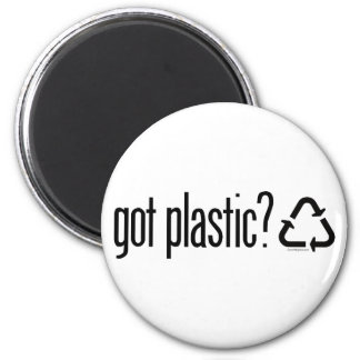 got plastic? Recycling Sign Refrigerator Magnet