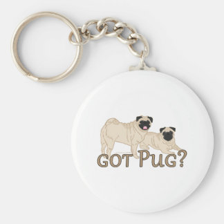 Got Pug? Basic Round Button Key Ring