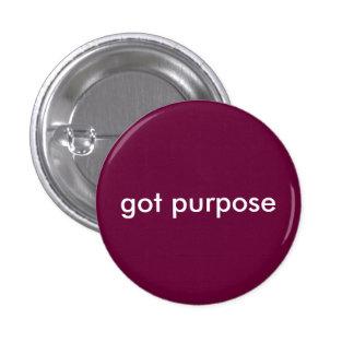 got purpose 3 cm round badge