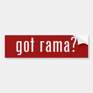 got rama? bumper sticker