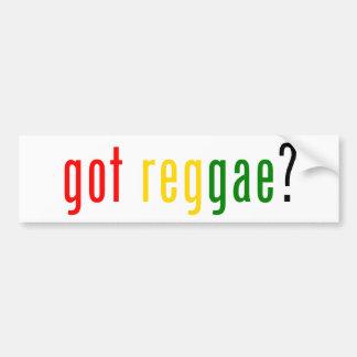 got reggae? car bumper sticker