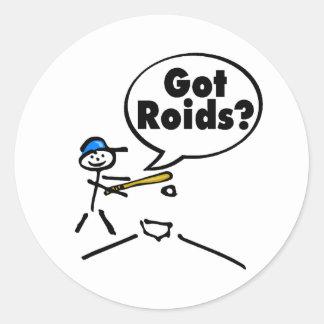 Got Roids Baseball Stickman Classic Round Sticker