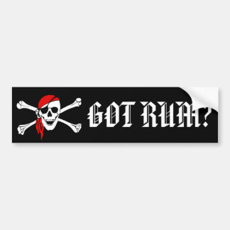 Got Rum Bumper Sticker