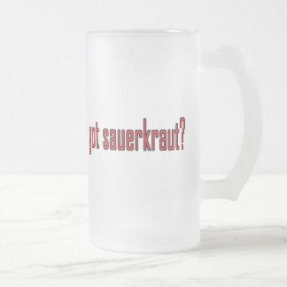 got sauerkraut? frosted glass beer mug